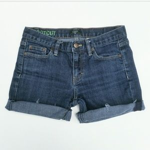 J. Crew Dark Cut Off Stretch Jean Shorts
